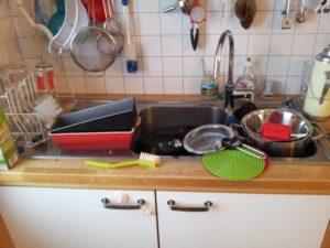 Küchenchaos vorher